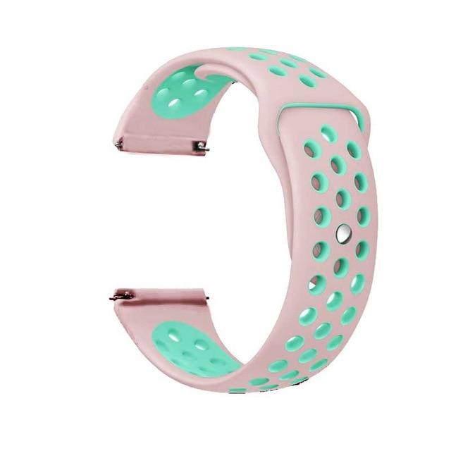 Samsung Gear Perforated Silicone WatchBand Stand pink mint green 20mm or S2 Classic