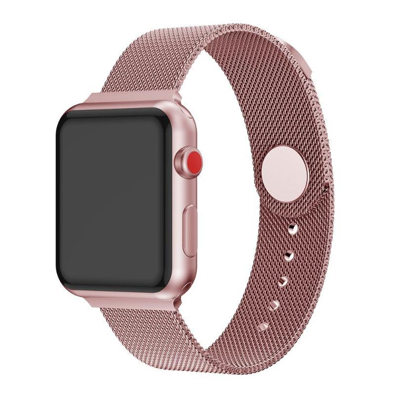 Apple Watch Milanese Mag Button Band WatchBand Stand