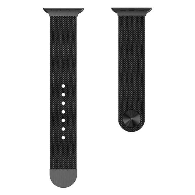 Apple Watch Milanese Mag Button Band WatchBand Stand Black 42mm
