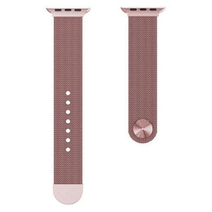 Apple Watch Milanese Mag Button Band WatchBand Stand Pink 42mm
