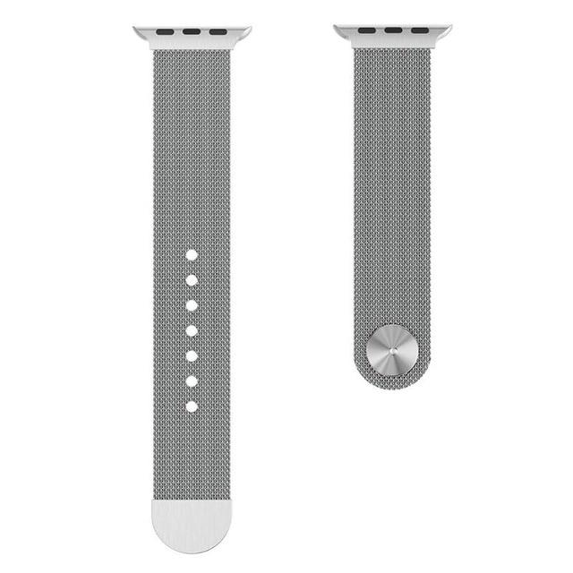 Apple Watch Milanese Mag Button Band WatchBand Stand Silver 42mm