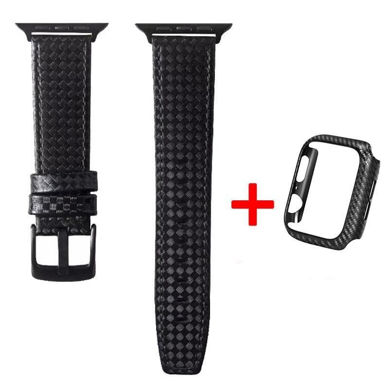 Apple Watch Tactical Carbon Fiber Band Watchband Stand