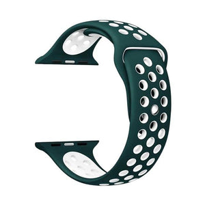 Sports Strap for the Nike apple watch series Watchband Stand 31 Dark green white for 38 40mm Watch ML