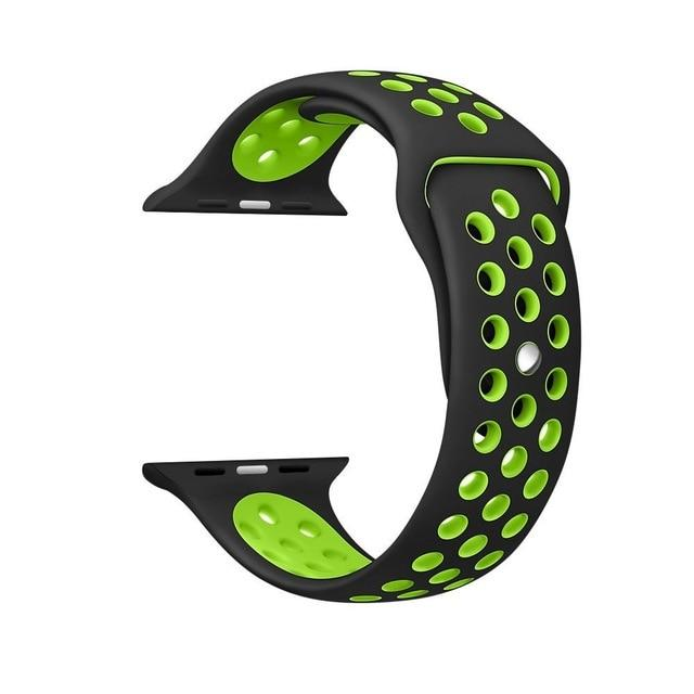 Sports Strap for the Nike apple watch series Watchband Stand 6 Black green for 38 40mm Watch ML