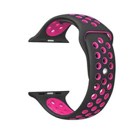 Sports Strap for the Nike apple watch series Watchband Stand 15 Black pink for 38 40mm Watch ML