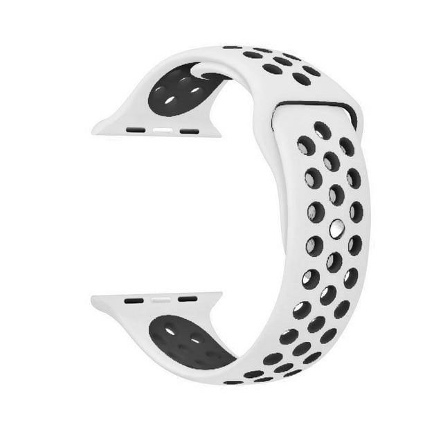 Sports Strap for the Nike apple watch series Watchband Stand 24 White black for 38 40mm Watch ML