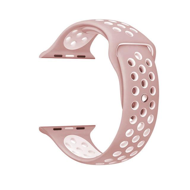 Sports Strap for the Nike apple watch series Watchband Stand 20 Pink white for 38 40mm Watch ML