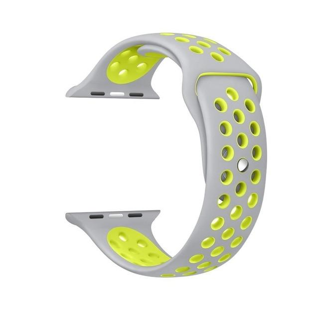 Sports Strap for the Nike apple watch series Watchband Stand 2 white yellow for 38 40mm Watch ML