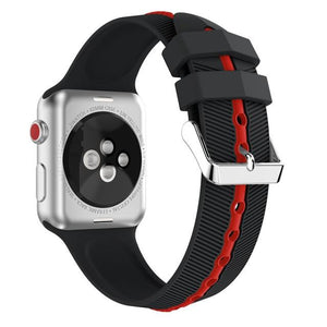 Apple Watch Silicone Gripper Band Watchband Stand black red 42mm or 44mm