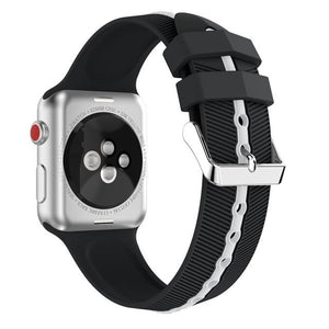 Apple Watch Silicone Gripper Band Watchband Stand Black white 42mm or 44mm