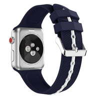 Apple Watch Silicone Gripper Band Watchband Stand Midnight blue White 42mm or 44mm