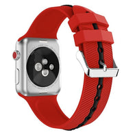 Apple Watch Silicone Gripper Band Watchband Stand Red black 42mm or 44mm