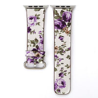 Apple Watch Konaforen Floral Printed Leather Loop Watchband Stand 2 38MM