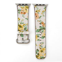Apple Watch Konaforen Floral Printed Leather Loop Watchband Stand 5 38MM