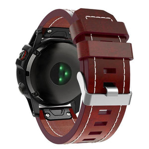 Garmin Fenix 3 Leather Punk WatchBand Stand