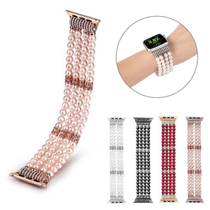 Apple Watch Bling Beads Hot Strap Jewelry Watchband Stand