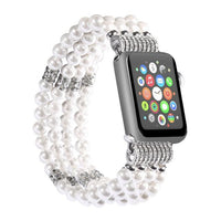 Apple Watch Bling Beads Hot Strap Jewelry Watchband Stand white 38MM