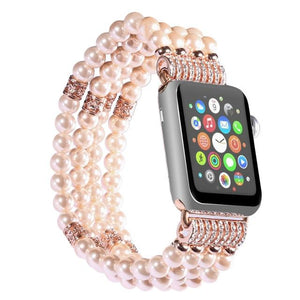 Apple Watch Bling Beads Hot Strap Jewelry Watchband Stand pink 42mm
