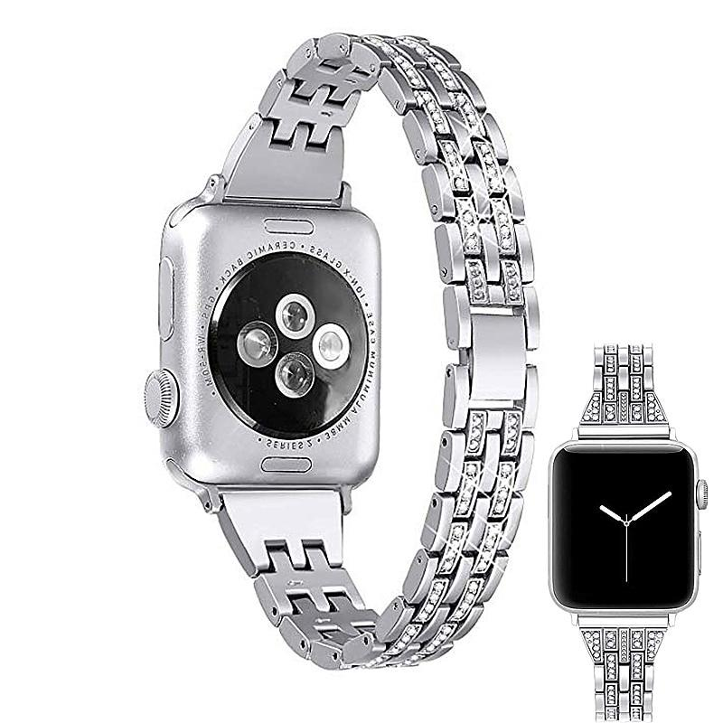 Apple Watch Washei Metal Rhinestone Wristband Jewelry Watchband Stand