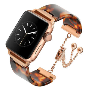 Apple Watch Premium Resin & Stain Steel Watchband Jewelry Watchband Stand