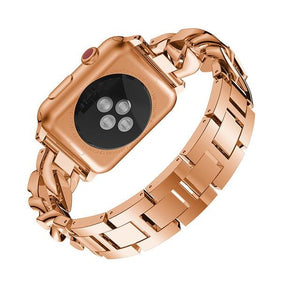 Apple Watch Diamond & Steel Band Watchband Stand rose gold 38mm 40mm