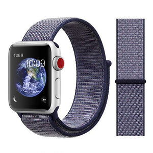 Apple Watch Nike Breathable Replacement Strap Watchband Stand Color1 midnight blue For 38MM and 40MM