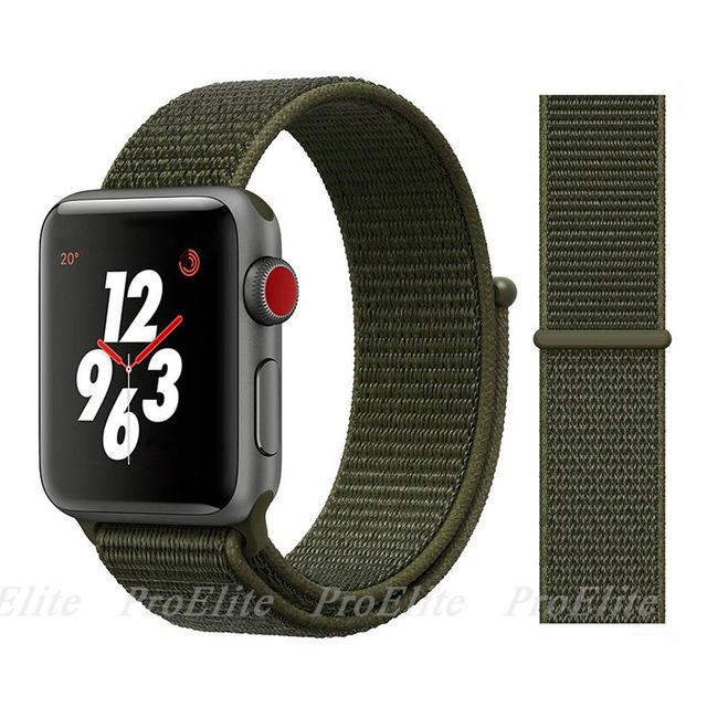 Apple Watch Nike Breathable Replacement Strap Watchband Stand Color30 Olive Green For 38MM and 40MM