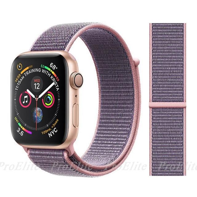 Apple Watch Nike Breathable Replacement Strap Watchband Stand Color5 Pink sand For 38MM and 40MM