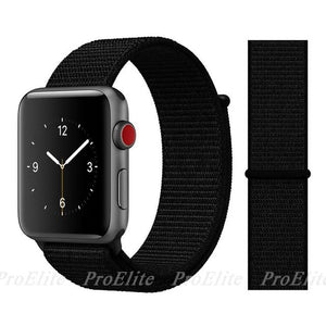 Apple Watch Nike Breathable Replacement Strap Watchband Stand Color7 Dark Black For 38MM and 40MM