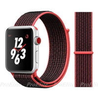 Apple Watch Nike Breathable Replacement Strap Watchband Stand Color10 Pink Black For 38MM and 40MM