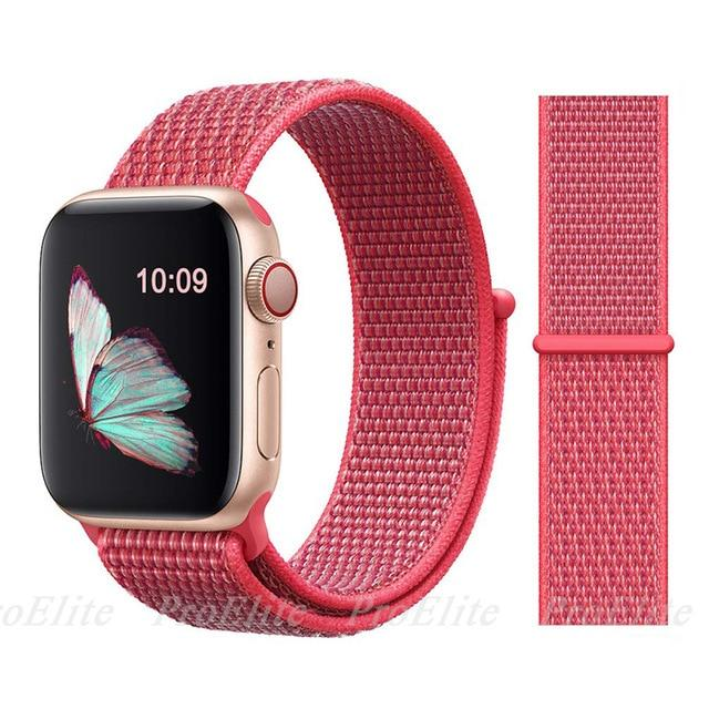 Apple Watch Nike Breathable Replacement Strap Watchband Stand Color21 Hibiscus For 38MM and 40MM