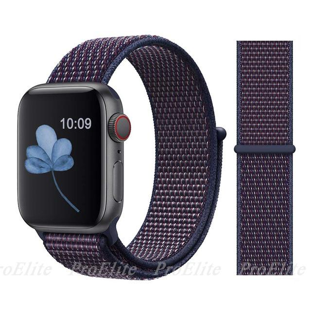 Apple Watch Nike Breathable Replacement Strap Watchband Stand Color22 indigo For 38MM and 40MM