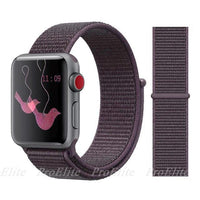 Apple Watch Nike Breathable Replacement Strap Watchband Stand Color32 Purple Smoke For 38MM and 40MM