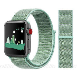 Apple Watch Nike Breathable Replacement Strap Watchband Stand Color16 marine green For 38MM and 40MM