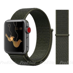 Apple Watch Nike Breathable Replacement Strap Watchband Stand Color17 cargo khaki For 38MM and 40MM