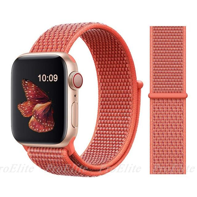 Apple Watch Nike Breathable Replacement Strap Watchband Stand Color 26Nectarine For 38MM and 40MM