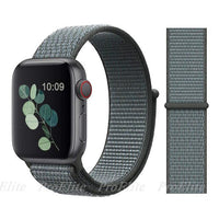 Apple Watch Nike Breathable Replacement Strap Watchband Stand Color23 Storm gray For 38MM and 40MM