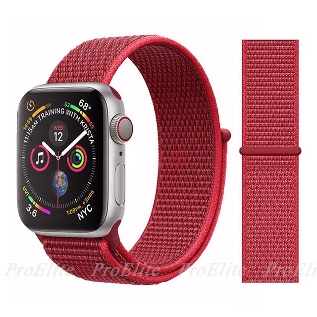 Apple Watch Nike Breathable Replacement Strap Watchband Stand Color27 Red For 38MM and 40MM