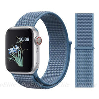 Apple Watch Nike Breathable Replacement Strap Watchband Stand 25Cape Cod Blue For 38MM and 40MM