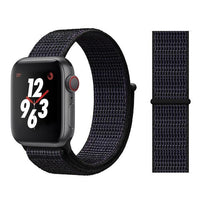 Apple Watch Nike Breathable Replacement Strap Watchband Stand Color24 Black For 38MM and 40MM
