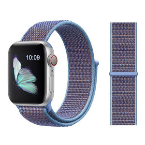 Apple Watch Nike Breathable Replacement Strap Watchband Stand Color33 Cerulean For 38MM and 40MM