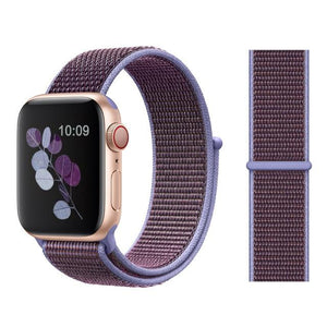 Apple Watch Nike Breathable Replacement Strap Watchband Stand Color34 Lilac For 38MM and 40MM