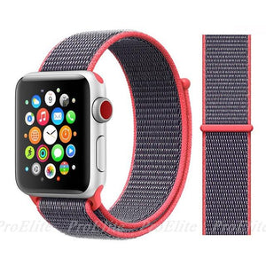 Apple Watch Nike Breathable Replacement Strap Watchband Stand Color3 Electric Pink For 38MM and 40MM