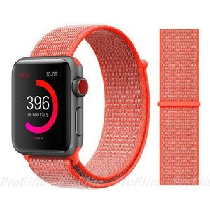 Apple Watch Nike Breathable Replacement Strap Watchband Stand Color4 Spicy Orange For 38MM and 40MM