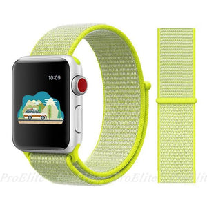 Apple Watch Nike Breathable Replacement Strap Watchband Stand Color14 Flash Light For 38MM and 40MM