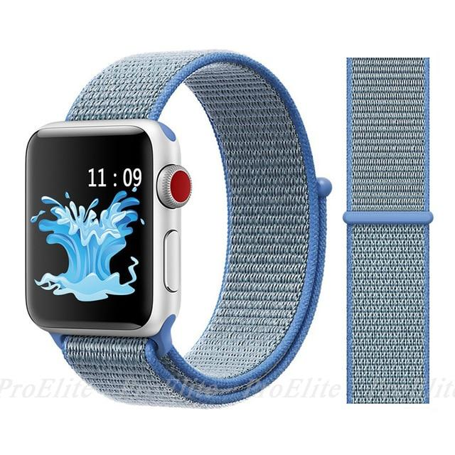 Apple Watch Nike Breathable Replacement Strap Watchband Stand Color15 tahoe blue For 38MM and 40MM