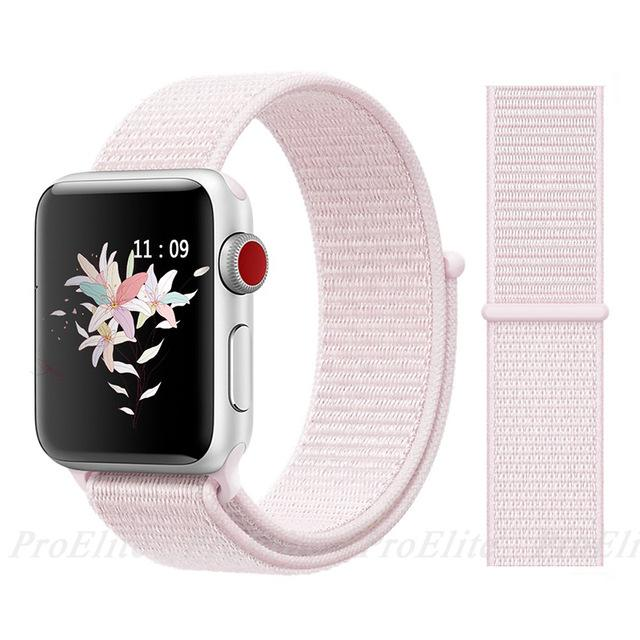 Apple Watch Nike Breathable Replacement Strap Watchband Stand Color18 pearl Pink For 38MM and 40MM