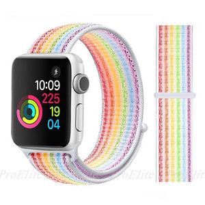 Apple Watch Nike Breathable Replacement Strap Watchband Stand Color20 Colorful For 38MM and 40MM