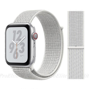 Apple Watch Nike Breathable Replacement Strap Watchband Stand Color28 Summit White For 38MM and 40MM
