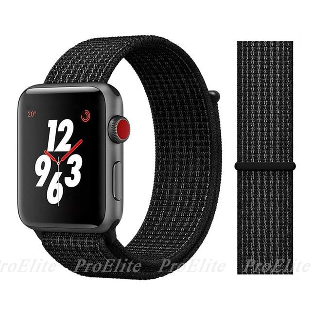Apple Watch Nike Breathable Replacement Strap Watchband Stand Color29 Black Nik For 38MM and 40MM